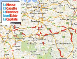 carte radars belgique
